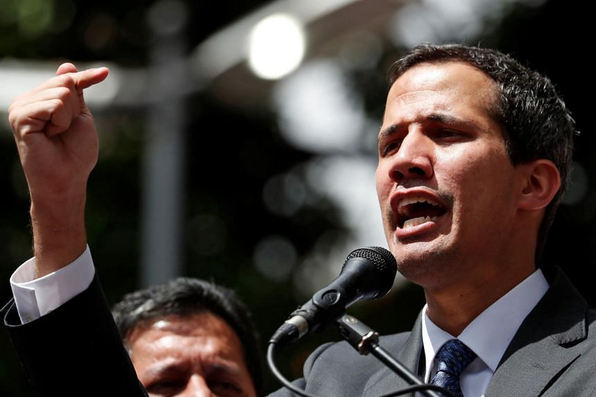 Washington and a string of countries in the region have recognised Venezuelan opposition leader Juan Guaido (pictured) as head of state and urged President Nicolas Maduro to step down.