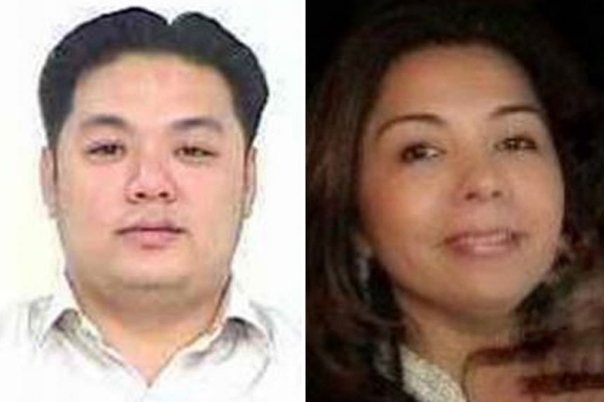 Malaysian police are calling for information on Low's parents, Goh Gaik Ewe and Low Hock Peng; (left) Tan Kim Loong, an associate of Low's; and Singaporean Shabnam Naraindas Daswani,(right) also known as Natasha Mirpuri.