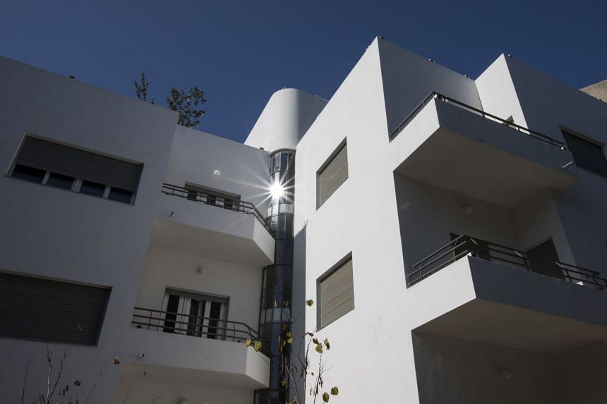 A building designed by architect Yitzhak Rapaport that is part of Tel Aviv's White City of about 4,000 buildings created in the Bauhaus style from the 1930s.