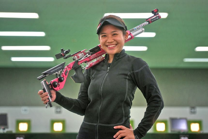 National shooter Martina Lindsay Veloso, 19, first made waves in 2014 as the youngest winner of a World Cup leg at age 14. Last year, she won two of Singapore's five golds at the Commonwealth Games.