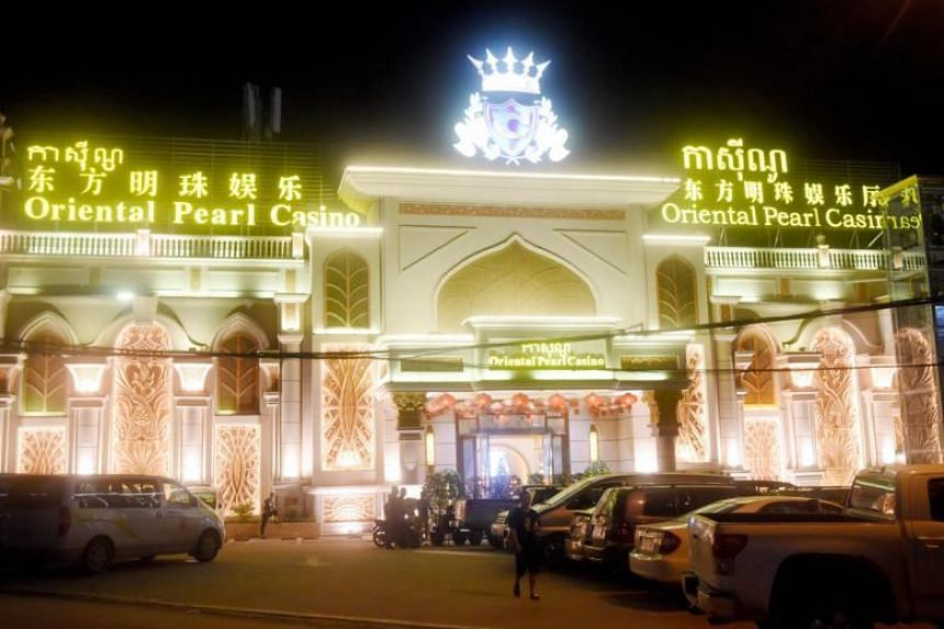 One of the many Chinese casino establishments in Sihanoukville, the coastal capital of Preah Sihanouk province, in Cambodia.