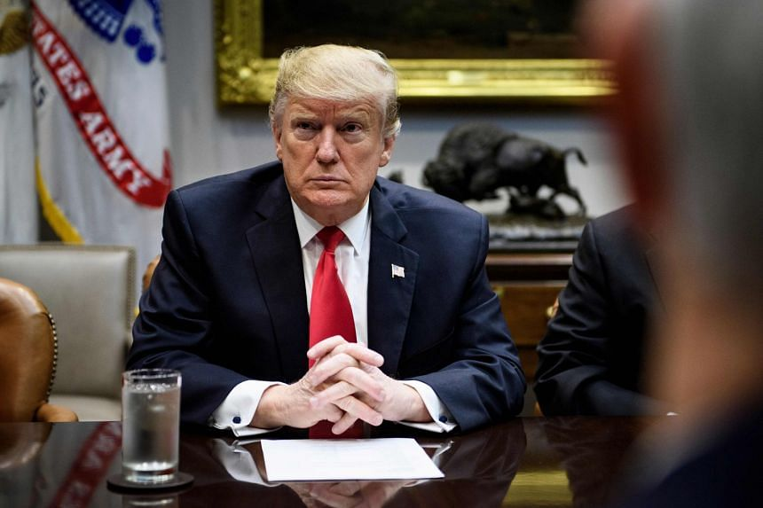 Trump (above) still threatened a new shutdown, or a state of emergency, if there is no breakthrough in negotiations.