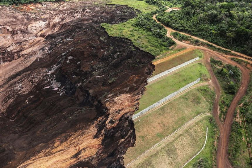 Mud and waste caused by the dam spill in Brumadinho, Minas Gerais, is seen on Jan 26, 2019.