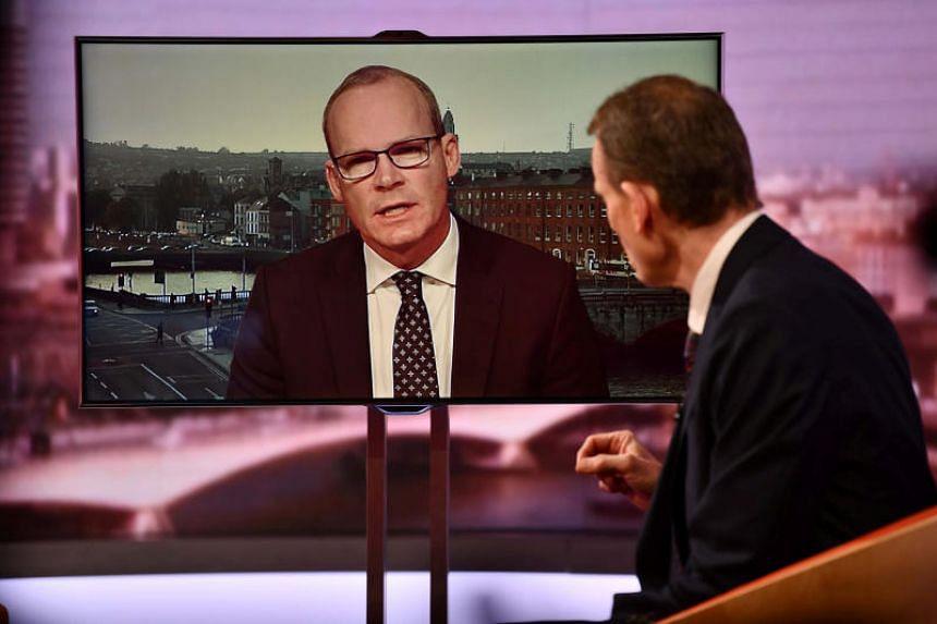 Irish Foreign Minister Simon Coveney speaking on BBC TV's The Andrew Marr Show on Jan 27, 2019.
