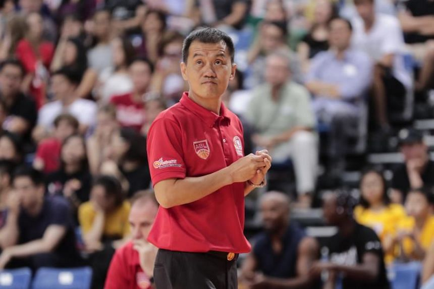 Singapore Slingers coach Neo Beng Siang at the Asean Basketball League game on Jan 27, 2019.