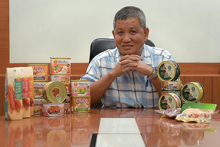 Mr Ong Bee Chip, managing director of Golden Bridge Foods and its sister brand Ellaziq, which makes halal food products, says reduced tariffs will allow his items, ranging from halal chicken floss to other products like dried Chinese sausage, to be m