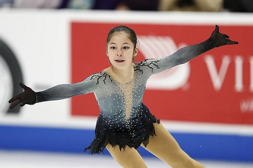Alysa Liu won't be old enough to take part in the World Figure Skating Championships until 2022.