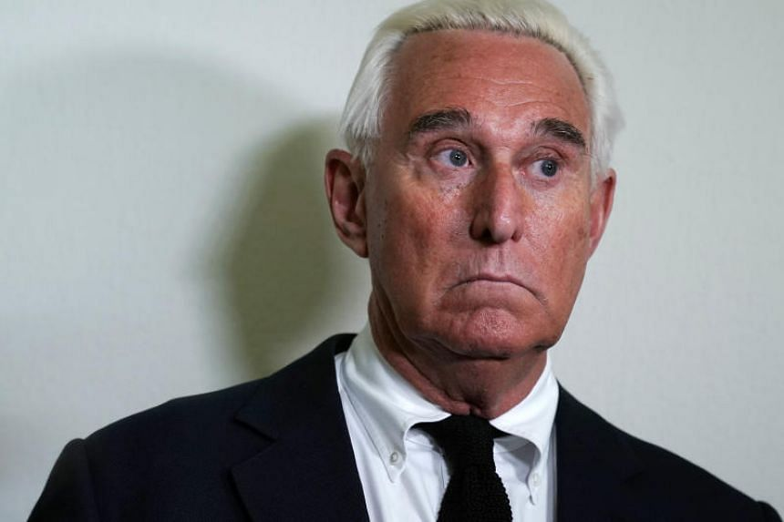 Roger Stone at the Rayburn House Office Building Washington, DC, on Dec 10, 2018.