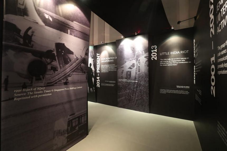 The first part of the exhibition highlights 30 key incidents over the last 200 years of our history that have threatened national peace and security.