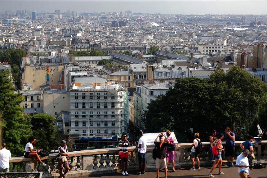 File photo showing the skyline of Paris, France, taken from the Sacre Coeur Basilica.