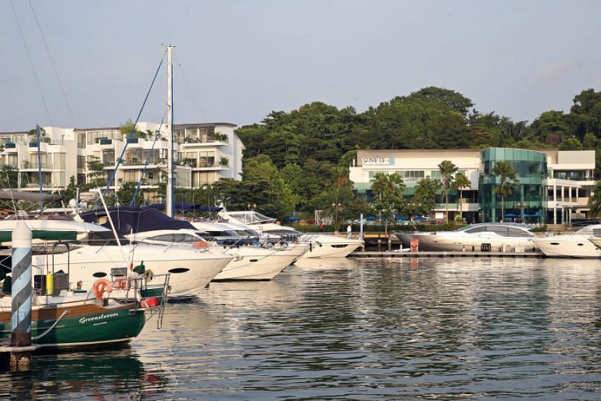 Yachts and boats berthed at One15 Marina Sentosa Cove, on Sept 2, 2017.