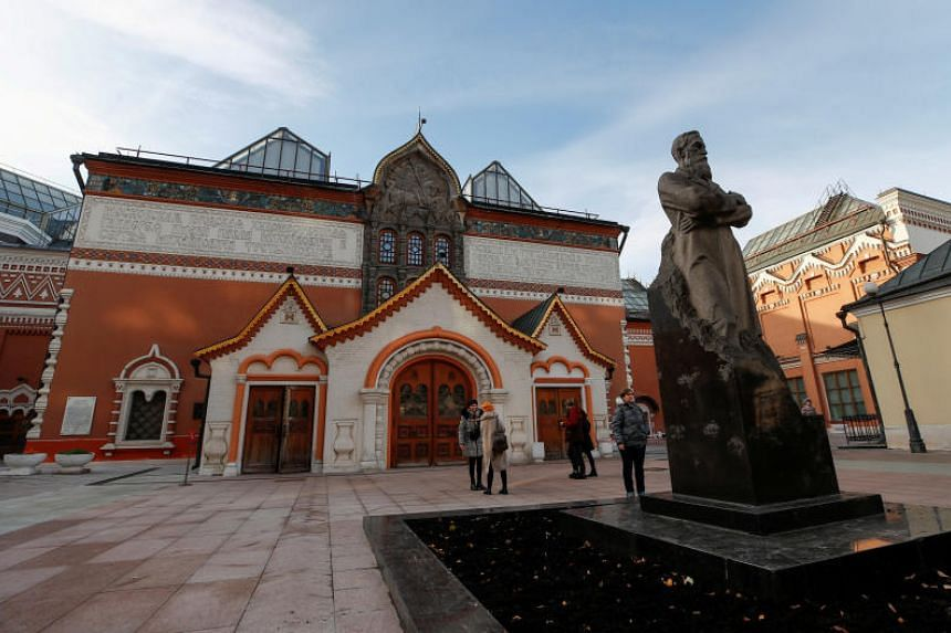 The State Tretyakov Gallery in Moscow where a man stole a painting by Russian landscape painter Arkhip Kuindzhi.