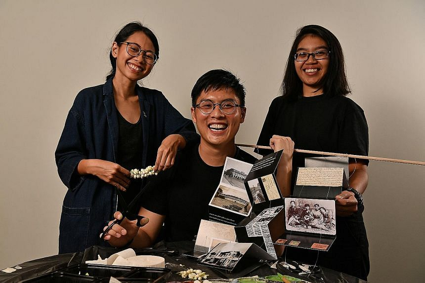 Asian Civilisations Museum director Kennie Ting's (above) book, 1819: A Living Legacy, takes a look back at Singapore's history over the past 200 years. Ms Izyanti Asaari (far left) and Ms Iffah Dahiyah (left) from Fellow design studio and Mr Bryan A