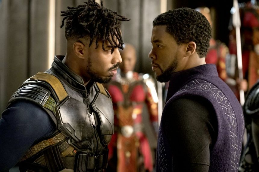 Cinema still from the film Black Panther.