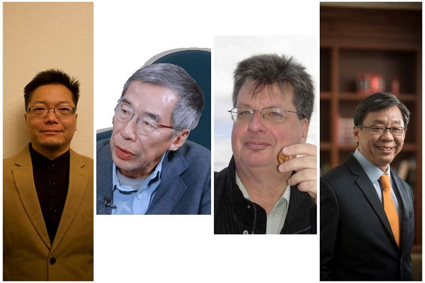 SEVEN HUNDRED YEARS: A HISTORY OF SINGAPORE By Derek Heng, Kwa Chong Guan, Peter Borschberg and Tan Tai Yong (from left).