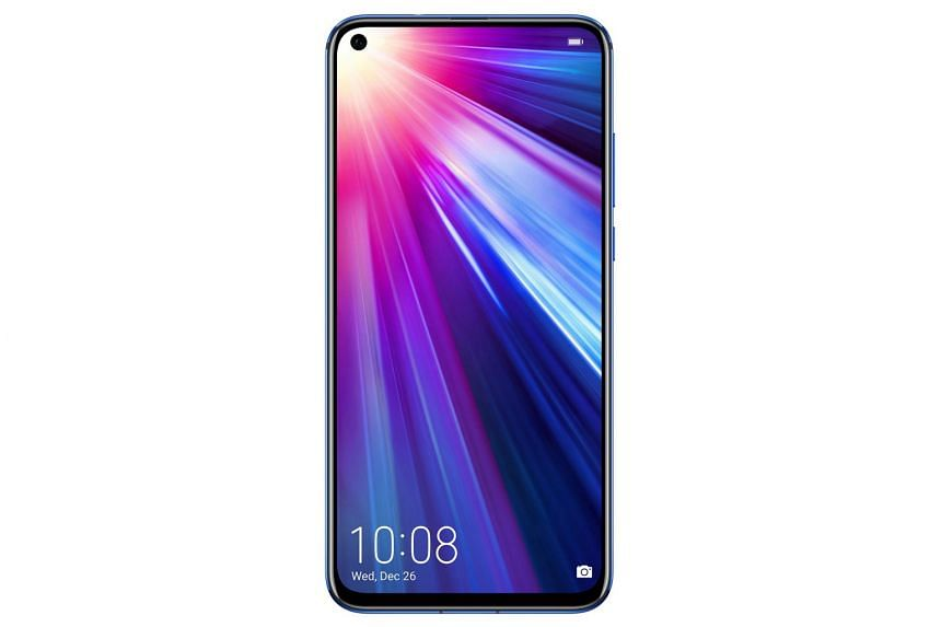 The Honor View20 has a hole-punch display - the left corner of the screen has a circular display cutout to accommodate a front-facing camera.