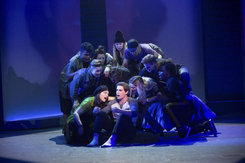 A production of Jagged Little Pill at the American Repertory Theater in Cambridge, Massachusetts.