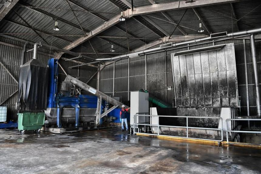 The co-digestion demonstration plant where food waste and used water sludge is received.