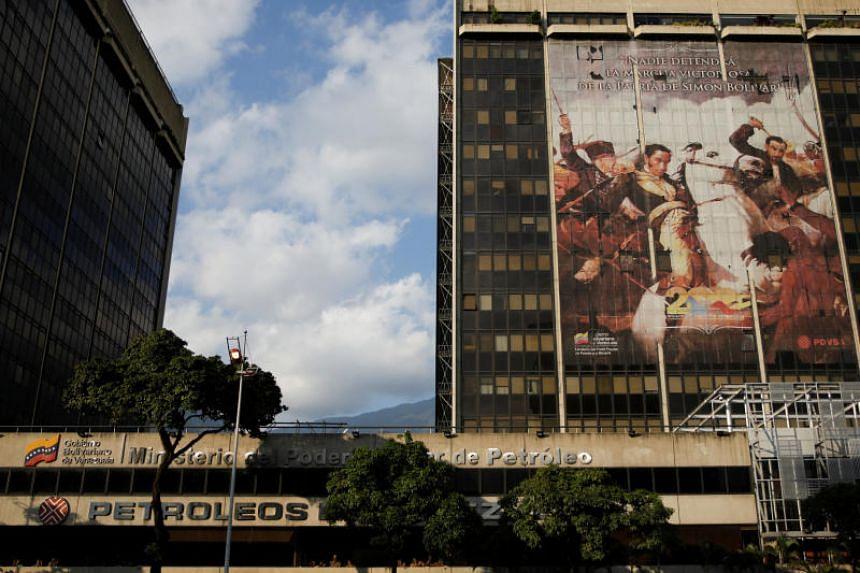 The headquarters of the Venezuelan oil company PDVSA in Caracas, Venezuela on Jan 28, 2019.
