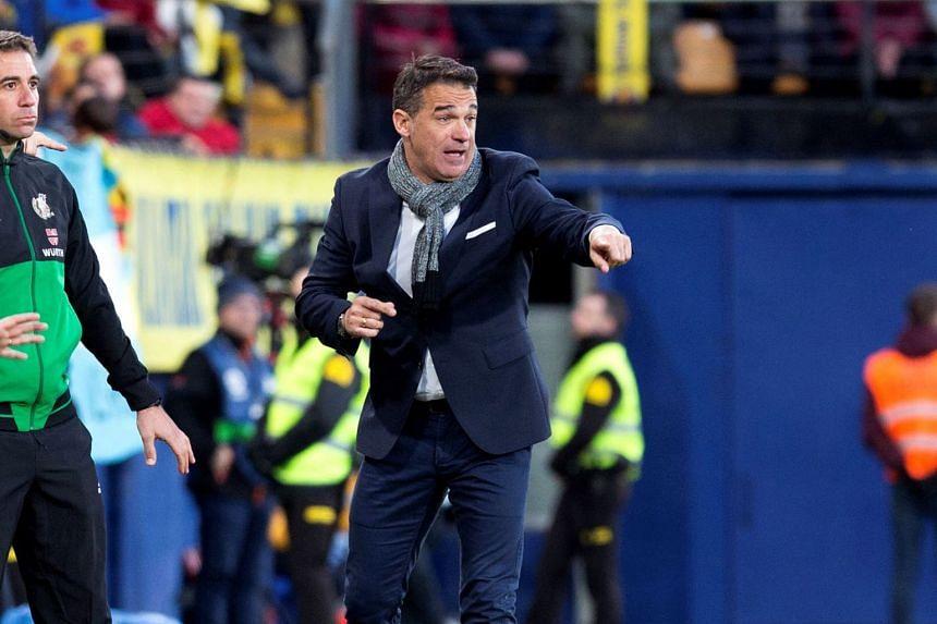 Luis Garcia reacts during a Spanish La Liga match between Villarreal and Athletic Bilbao on Jan 20, 2019.