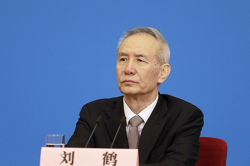 Chinese Vice-Premier Liu He (above) will face US Trade Representative Robert Lighthizer in the trade talks.