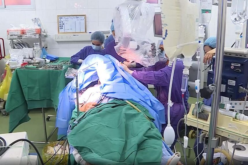 During the six-hour awake brain surgery, the patient was awake for two hours.