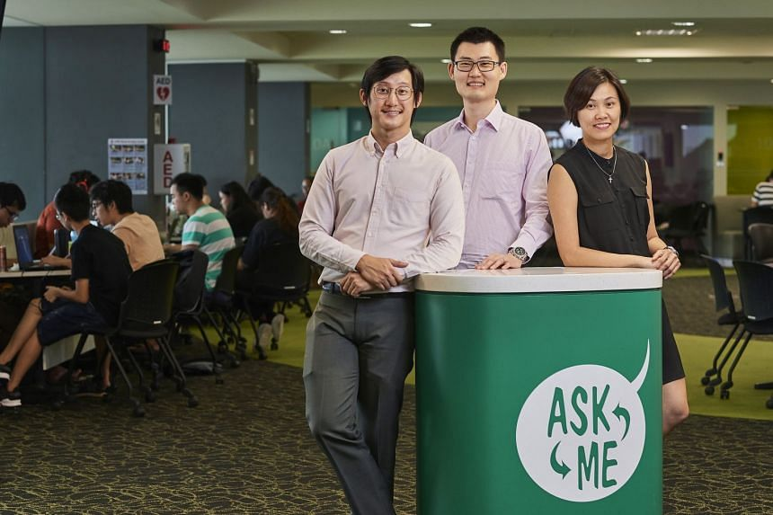 At JCU Singapore, staff like (from left) Mr Kenneth Chan, Mr Andrew Chew and Ms Cassandra Lee are determined to help students find the right programme for themselves — even if it is not offered by JCU. PHOTO: TED CHEN