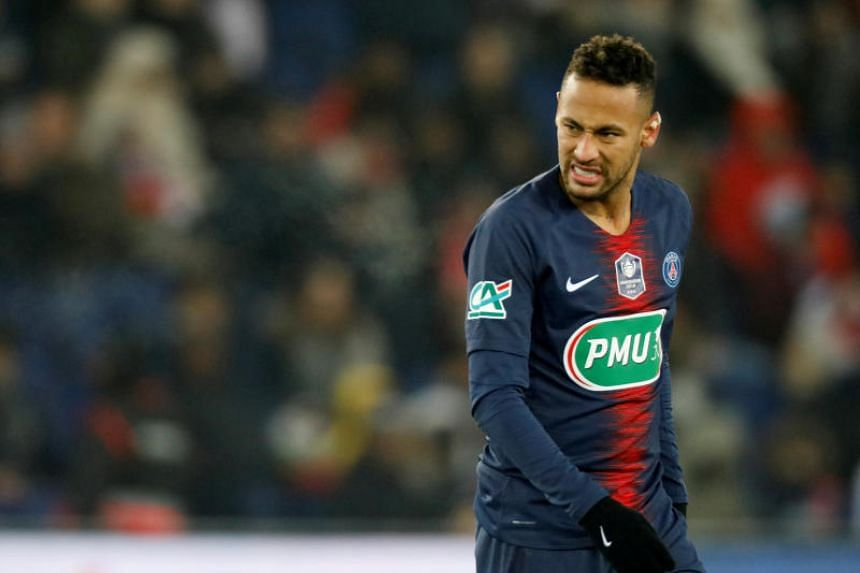 Neymar suffered the injury in PSG's French Cup win against Strasbourg last week.