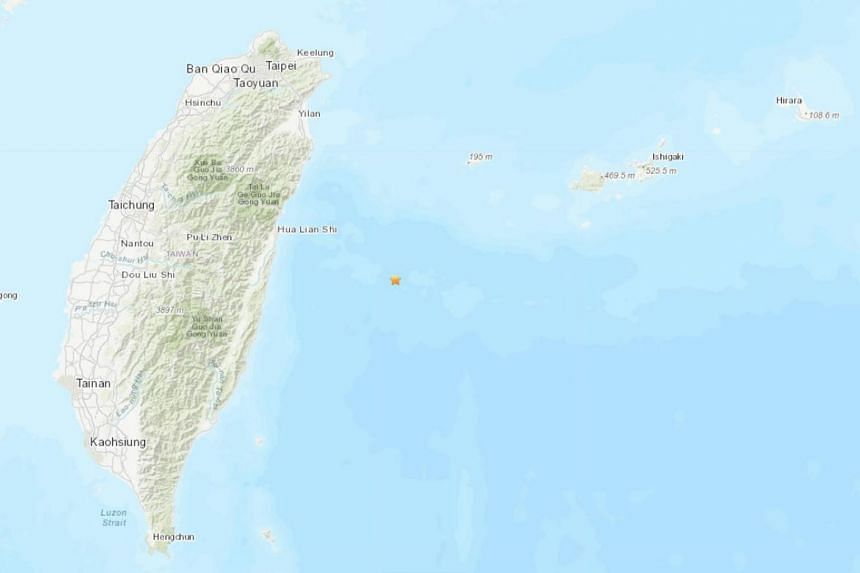 The quake struck a depth of 19.8km about 92km east of Hualien county, which is on the east coast of Taiwan.