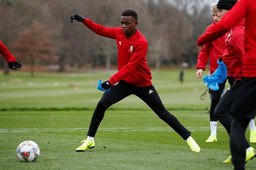 Rabbi Matondo during a training session for the Wales team in November 2018.