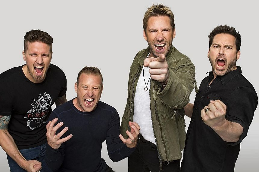 Nickelback comprise (from far left) Daniel Adair, Mike and Chad Kroeger and Ryan Peake.