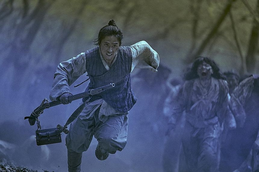 Kim Sung-kyu in South Korean series Kingdom, where a mysterious plague breaks out among impoverished villagers.