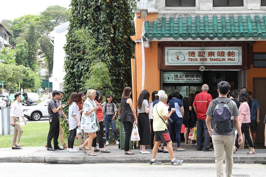 At Teck Kee Tanglin Pau's Killiney Road branch, its popular char siew bun was sold out by 1.30pm and staff said that more than 1,000 were snapped up.