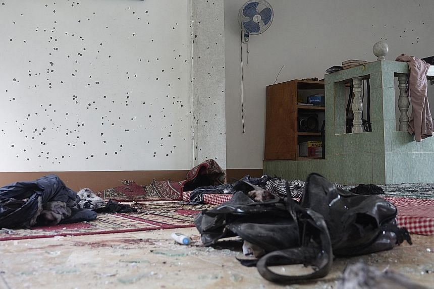 Personal belongings left behind in Kamahaldikaan mosque. An unidentified assailant reportedly lobbed a grenade at the mosque in Talon district, Zamboanga City, where about 10 people on a Muslim retreat were sleeping, just past midnight yesterday. The