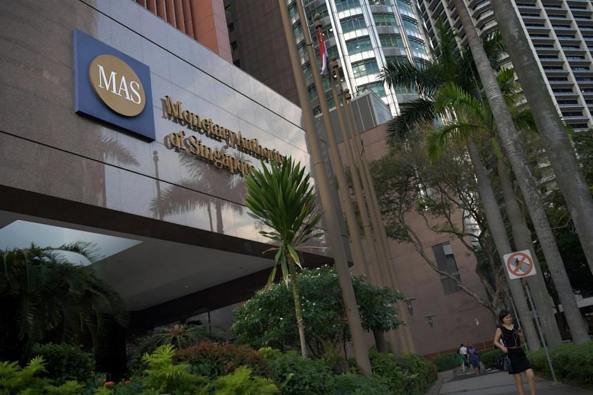 File photo of the Monetary Authority of Singapore building in Shenton Way.