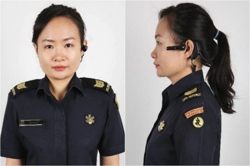 The body-worn camera, which is a compact device worn over the ear, will be rolled out progressively to all paramedics by next year.