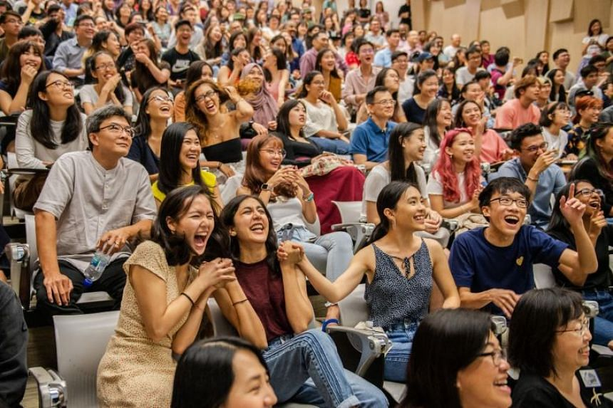Some 160 students from the School of the Arts receiving their International Baccalaureate (IB) Diploma Programme and IB Career-related Programme results at the school on Jan 4, 2019.