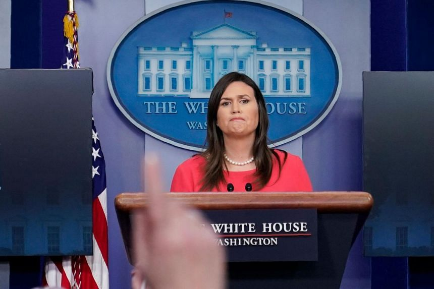 The interview with White House press secretary Sarah Sanders, which was to air later on Wednesday US time, was on CBN's show Faith Nation.