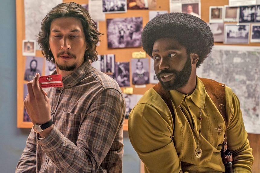 BlacKkKlansman, which stars Adam Driver (top left) and John David Washington (top right), scored six Oscar nominations, including Best Director for Spike Lee (above). Black Panther, which stars Lupita Nyong'o (left) and Letitia Wright (right), is the