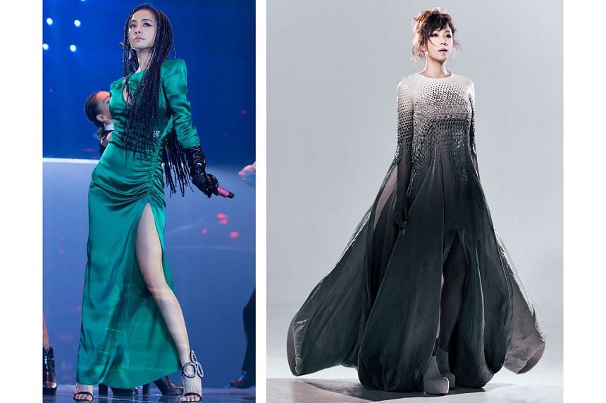 Sandy Lam's (right) 12th Mandarin release is titled 0 and Jolin Tsai's (left) 14th studio album is called Ugly Beauty.