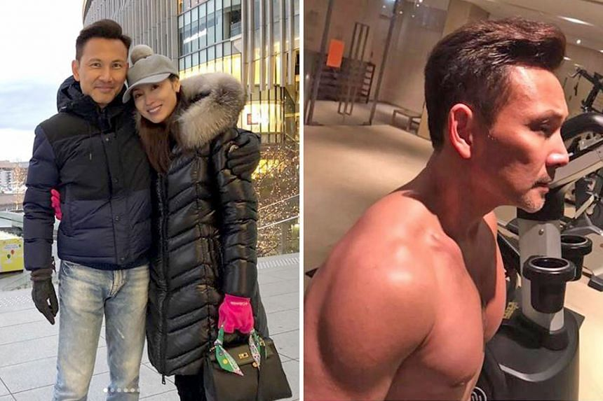 For many men entering middle age, a bulging tummy and receding hairline are among their biggest concerns. But Hong Kong actor Frankie Lam, 51, shows no signs of those. He is beefing up his body for a TV series and his wife, actress Kenix Kwok (both l