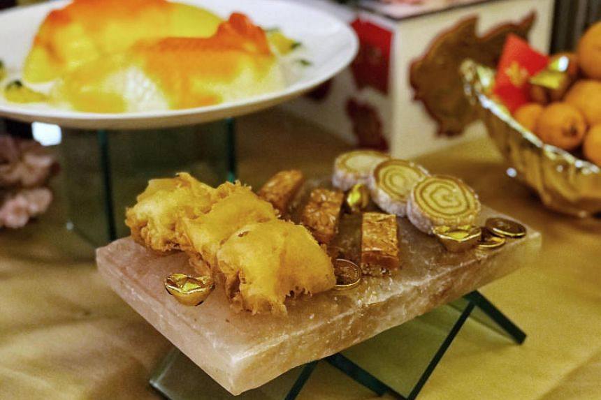 "The deep-fried Chempedak ""Nian Gao"" is available for only dine-in at Min Jiang at Goodwood Park Hotel as you have to eat it freshly fried."