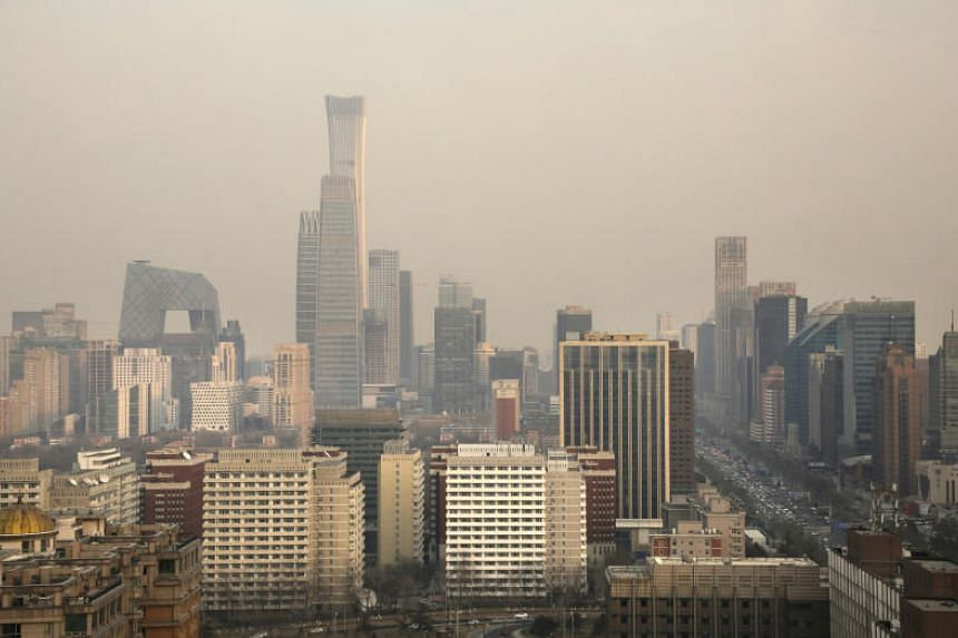 File photo showing the skyline of China's capital city Beijing, on Dec 31, 2018.