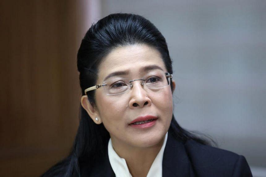 Pheu Thai's Sudarat Keyuraphan speaks during an interview in Bangkok, Thailand, on Jan 31, 2019.