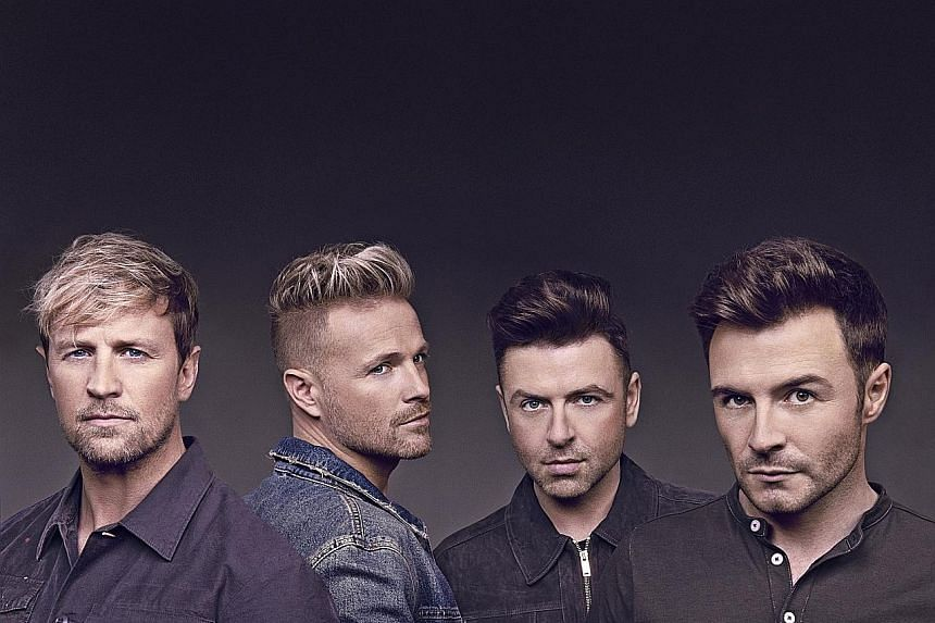 Westlife (comprising, from left, Kian Egan, Nicky Byrne, Mark Feehily and Shane Filan) are planning an Asia tour this year.