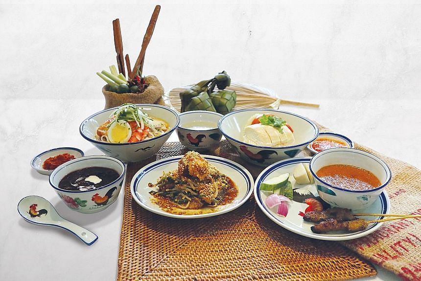 Five dishes are selected from the cafe's a la carte menu to represent the nation's heritage hawker fare, and served course by course in smaller servings than a la carte versions.