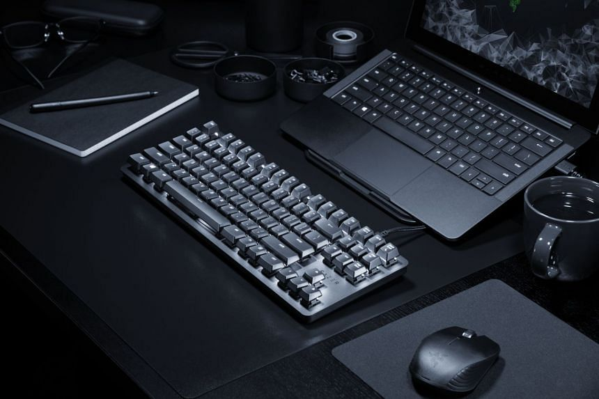The Razer Blackwidow Lite mechanical keyboard is quieter and is hence more suitable for the office. PHOTO: RAZER