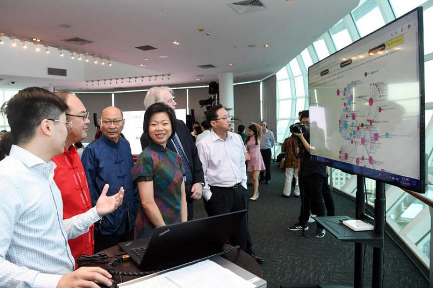 Senior Minister of State for Communications and Information and Culture, Community and Youth Sim Ann at the launch of the Singapore Biographical Database of Chinese Personalities on Feb 1, 2019.