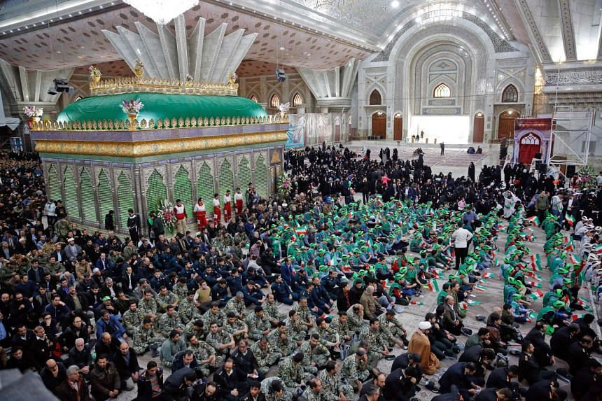Pilgrims visit the tomb of Iran's late founder of the Islamic Republic, Ayatollah Ruhollah Khomeini, at his mausoleum in Teheran on Feb 1, 2019, to mark the 40th anniversary of Khomeini's return from exile from Paris.