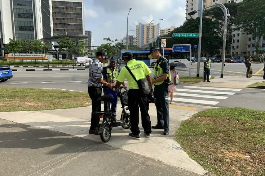 Users were stopped for infringements for having Personal Mobility Devices that did not satisfy regulations such as having a top speed of no more than 25kmh and a maximum weight of 20kg.